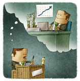 Biznesmena widok przyszłość ilustracja wektor