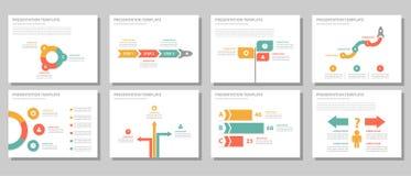 Biznesmena wielocelowego infographic elementu projekta płaski set Obrazy Royalty Free