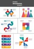 Biznesmena wielocelowego infographic elementu projekta płaski set Obraz Royalty Free