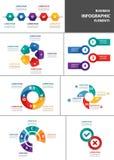 Biznesmena wielocelowego infographic elementu projekta płaski set Obrazy Stock