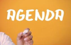 Biznesmena writing agenda Obraz Royalty Free