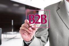 Biznesmena writing biznes biznes w Fotografia Stock