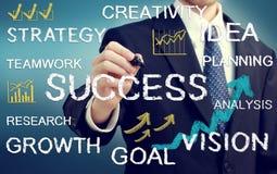 Biznesmena writing biznesowi o temacie teksty ilustracja wektor