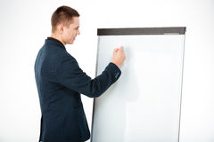 Biznesmena writing coś na whiteboard Zdjęcie Royalty Free