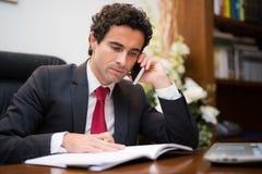 Biznesmena writing na jego agendzie Fotografia Royalty Free