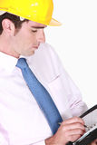 Biznesmena writing w agendzie Obraz Stock