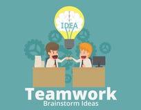 Biznesmena, współczłonka drużyny i partnerów dawać ludzie biznesu ilustracja wektor