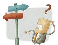 Biznesmena wybór ilustracja wektor