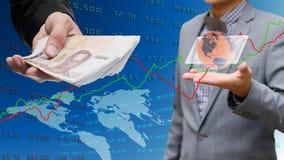 Biznesmena wycofanie od internet bankowości Zdjęcia Stock