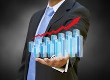 Biznesmena wykresu pojęcie Fotografia Stock