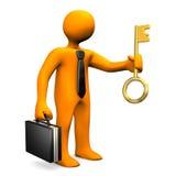 Biznesmena Złoty klucz ilustracji