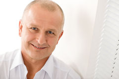biznesmena zakończenia dojrzałego portreta target334_0_ uśmiech dojrzały Zdjęcie Stock