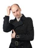 biznesmena zamieszania głowa jego narysy Fotografia Stock