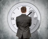 biznesmena zegaru target752_0_ obrazy stock