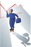 Biznesmena zerkanie ilustracja wektor