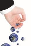 biznesmena ziemska kuli ziemskiej ręka Zdjęcie Royalty Free
