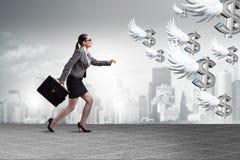 Biznesmeni goni anioła inwestora finansowanie Zdjęcia Royalty Free