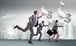 Biznesmeni goni anioła inwestora finansowanie Obraz Royalty Free