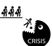 Biznesmeni i kryzys ilustracji
