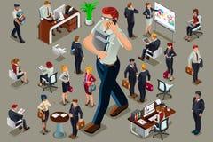 Biznesmeni ilustrujący zaludniają isometric wektor ilustracji