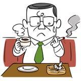 Biznesmeni które myśleć dymienia zaprzestanie ilustracja wektor