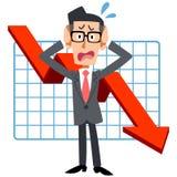 Biznesmeni które one zmagają się z słabym występem ilustracja wektor