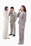Biznesmeni na ich telefon komórkowy Fotografia Stock