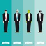 Biznesmeni od kosmosu royalty ilustracja