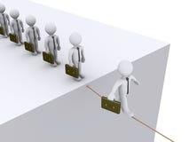 biznesmeni rope target537_0_ czekanie spacer ich Obraz Royalty Free