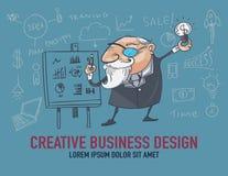 Biznesmeni są kreatywnie o biznesie ilustracja wektor