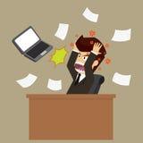 Biznesmeni stresują się przez pracy przeciążenia Fotografia Stock