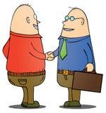 Biznesmeni target1_1_ rękę ilustracji