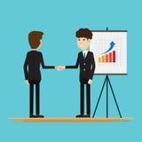 Biznesmeni trząść ręka partnerów Zdjęcie Stock