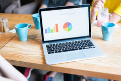 Biznesmeni używa laptop w spotkaniu Zdjęcia Royalty Free
