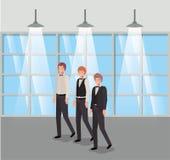 Biznesmeni w korytarza biurze royalty ilustracja