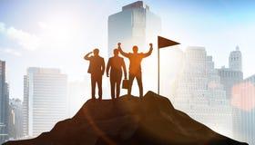 Biznesmeni w osi?gni?ciu i pracy zespo?owej poj?ciu zdjęcia royalty free