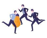Biznesmeni z ?ar?wki avatar charakterem ilustracji
