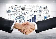 Biznesmeni z biznesowym planowaniem strategicznym obrazy stock