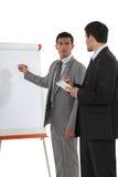 Biznesmeni z flipchart Obraz Stock