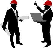 Biznesmeni z hardhat Zdjęcie Royalty Free
