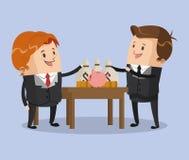 Biznesmeni z pieniędzy savings royalty ilustracja