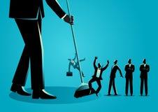 Biznesmeni zamiata miotłą ilustracja wektor