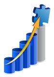Biznesowa łamigłówki wykresu ilustracja Fotografia Stock