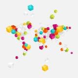 Biznesowa światowa mapa royalty ilustracja