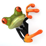 Biznesowa żaba Zdjęcia Stock