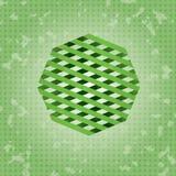 Biznesowa Abstrakcjonistyczna logo ikona z zielonym faborkiem Fotografia Royalty Free