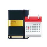 Biznesowa agenda z kalendarzem odizolowywającym Obraz Stock
