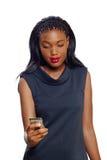 Biznesowa Amerykanin afrykańskiego pochodzenia kobieta Zdjęcia Royalty Free