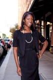 biznesowa Amerykanin afrykańskiego pochodzenia kobieta Zdjęcia Stock
