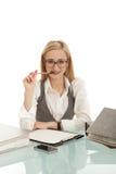 biznesowa biurka falcówki kobieta Obrazy Royalty Free